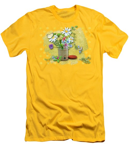 Antique Tin Of Flowers Men's T-Shirt (Athletic Fit)