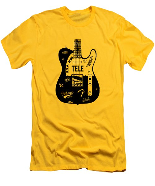 Fender Telecaster 64 Men's T-Shirt (Slim Fit) by Mark Rogan