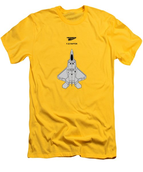 F-22 Raptor - White Men's T-Shirt (Athletic Fit)