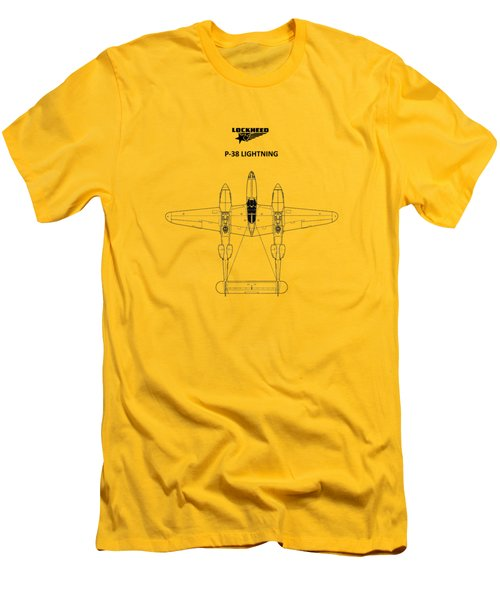 The P-38 Lightning Men's T-Shirt (Slim Fit) by Mark Rogan
