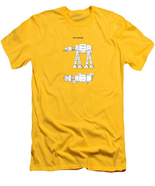 Star Wars - At-at Patent Men's T-Shirt (Athletic Fit)
