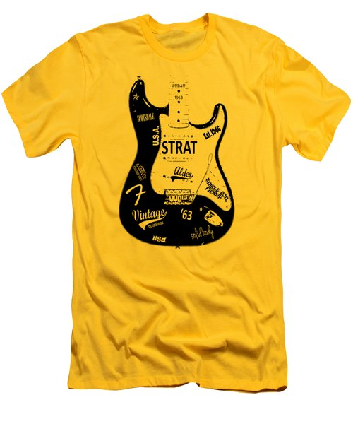 Fender Stratocaster 63 Men's T-Shirt (Slim Fit) by Mark Rogan