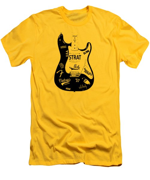 Fender Stratocaster 57 Men's T-Shirt (Slim Fit) by Mark Rogan