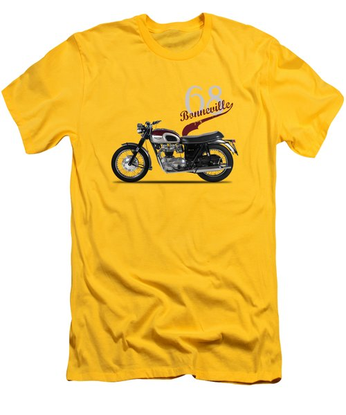 Triumph Bonneville T120 1968 Men's T-Shirt (Slim Fit) by Mark Rogan