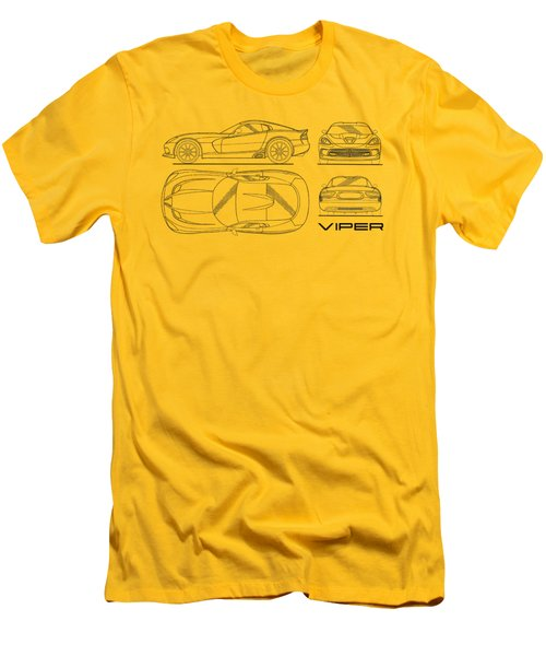 Srt Viper Blueprint Men's T-Shirt (Slim Fit) by Mark Rogan