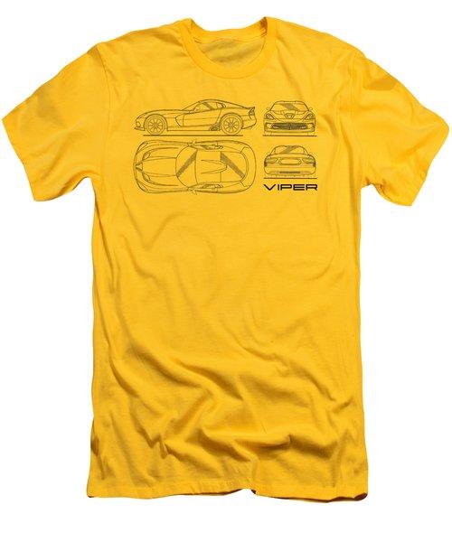 Srt Viper Blueprint Men's T-Shirt (Athletic Fit)