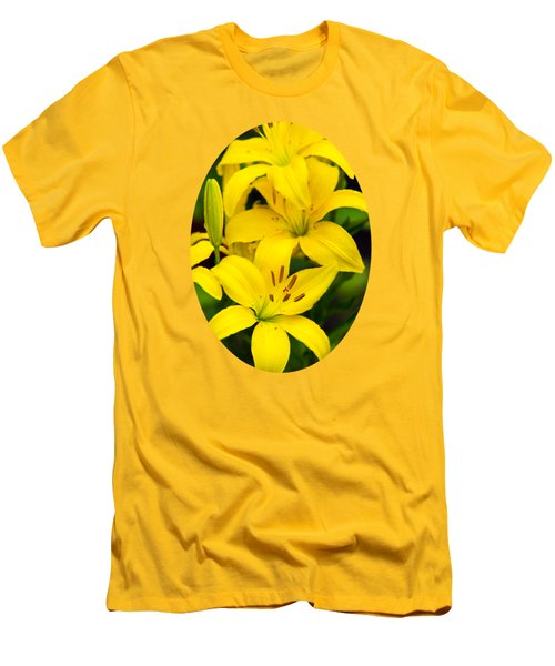 Yellow Lilies Men's T-Shirt (Slim Fit) by Christina Rollo