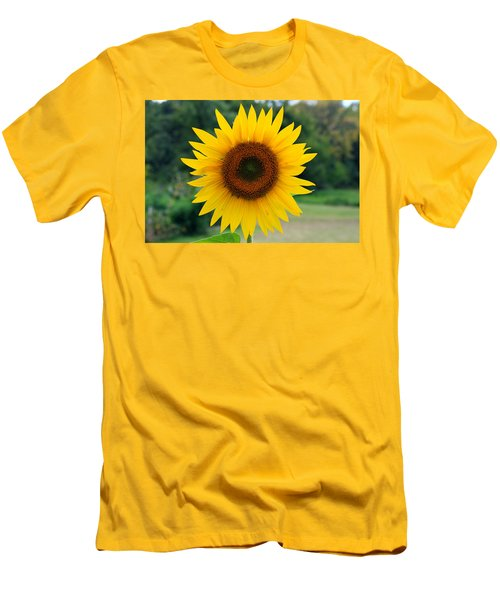 Men's T-Shirt (Slim Fit) featuring the photograph August Sunflower by Jeff Severson