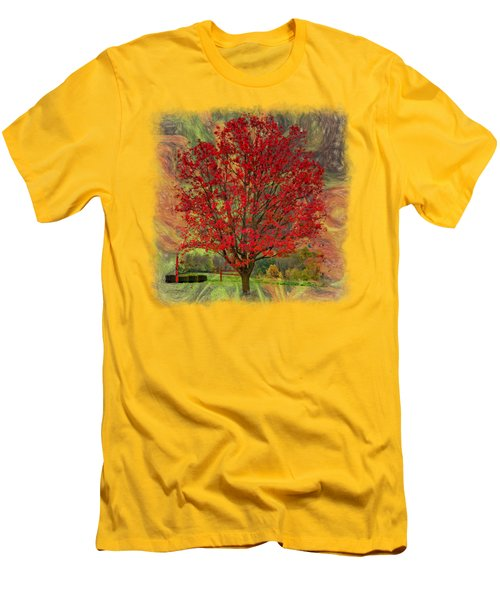 Autumn Scenic 2 Men's T-Shirt (Slim Fit) by John M Bailey
