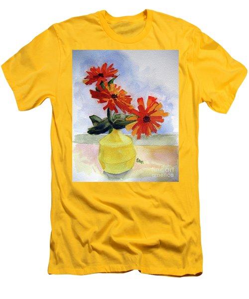 Back To Basics Men's T-Shirt (Slim Fit) by Sandy McIntire