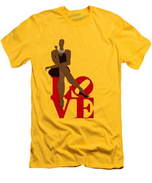 Bald Sitting On Love Men's T-Shirt (Slim Fit) by Romaine Head