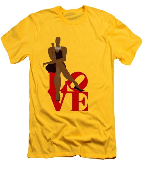 Bald Sitting On Love Men's T-Shirt (Athletic Fit)