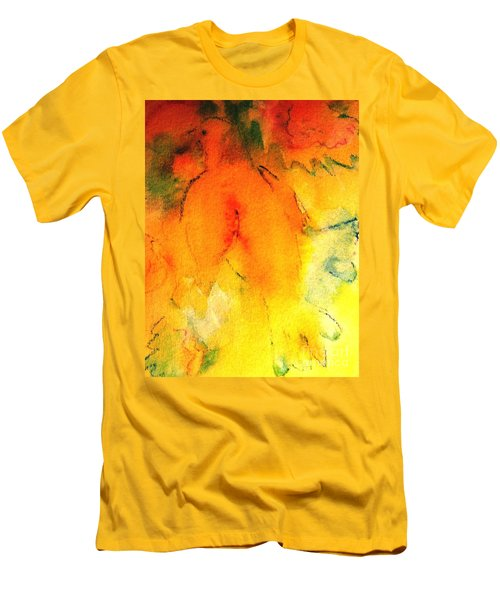 Men's T-Shirt (Slim Fit) featuring the painting Be Harmless As Doves by Hazel Holland