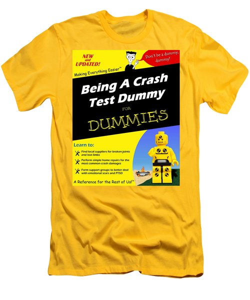 Men's T-Shirt (Slim Fit) featuring the photograph Being A Crash Test Dummy For Dummies by Mark Fuller