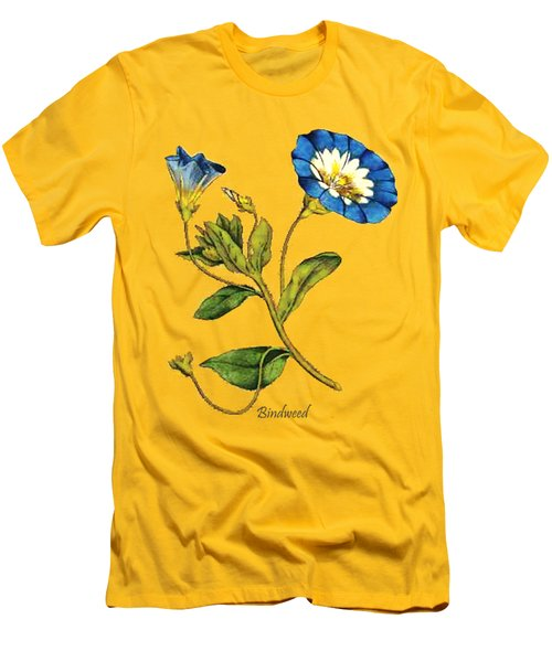 Men's T-Shirt (Slim Fit) featuring the digital art Bindweed by Asok Mukhopadhyay