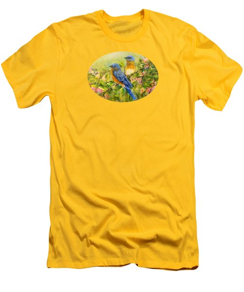 Bluebirds For T-shirts And Accessories Men's T-Shirt (Slim Fit) by Loretta Luglio