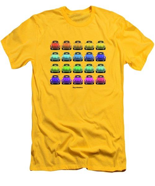 Bug Infestation. Men's T-Shirt (Slim Fit) by Mark Rogan
