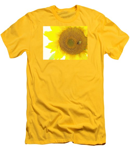 Bumble Bee Sunflower Men's T-Shirt (Athletic Fit)
