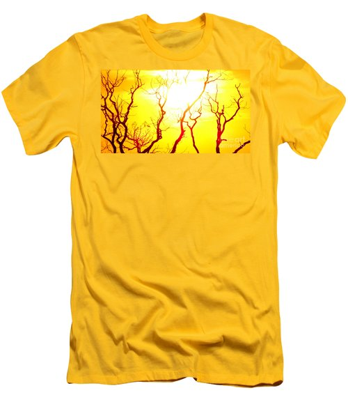 Men's T-Shirt (Slim Fit) featuring the photograph Burning Sunset by Justin Moore