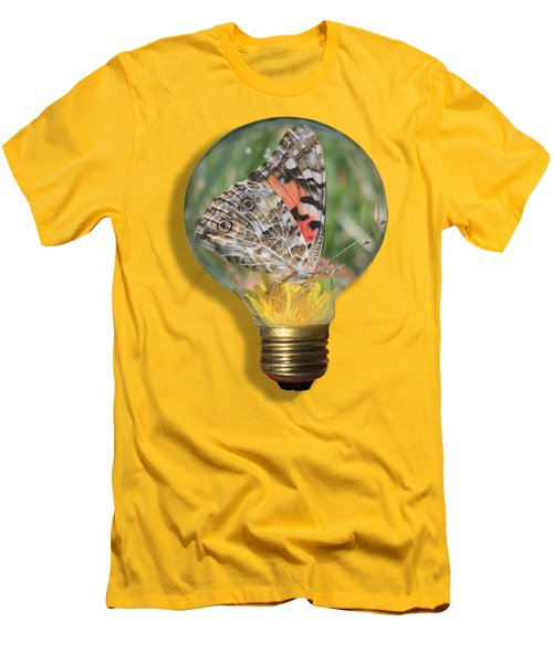 Butterfly In A Bulb II Men's T-Shirt (Slim Fit) by Shane Bechler