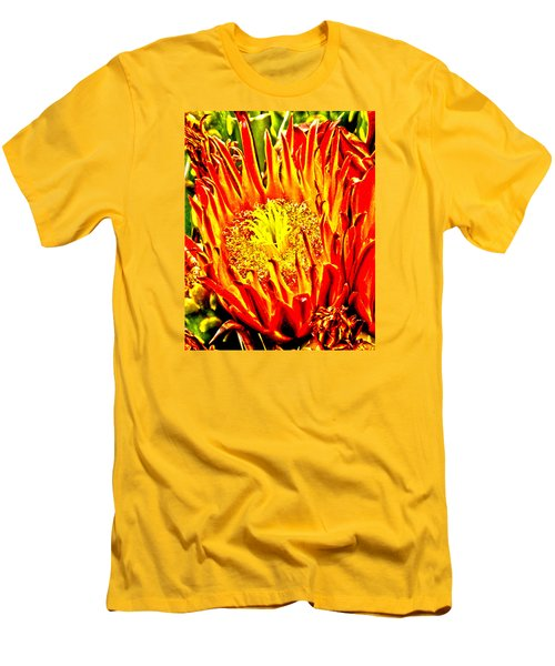 Cactus Flower Men's T-Shirt (Athletic Fit)
