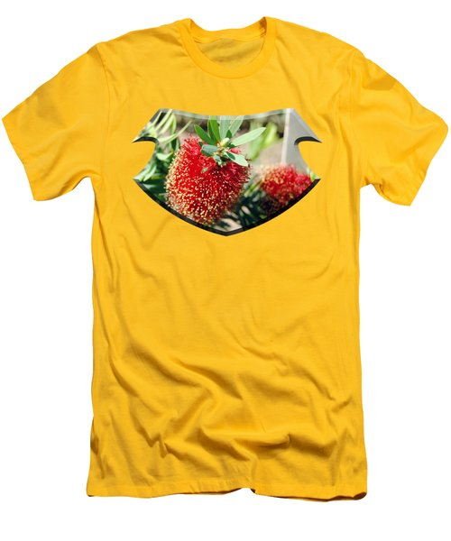Callistemon - Bottle Brush T-shirt 4 Men's T-Shirt (Slim Fit) by Isam Awad
