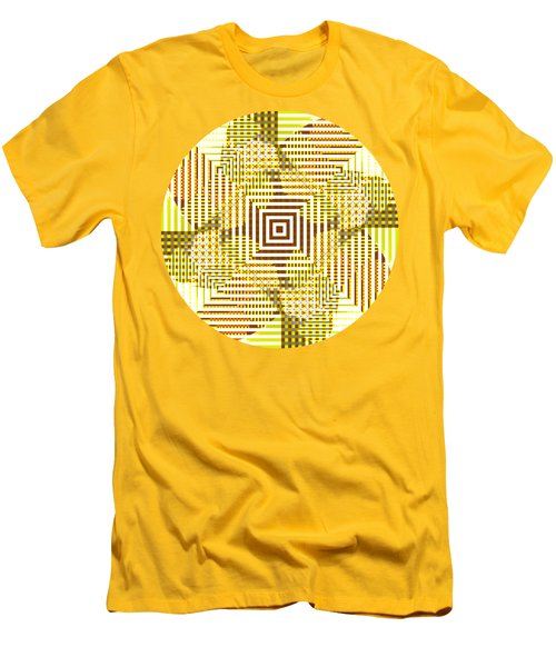 Circle And Square Abstract Men's T-Shirt (Athletic Fit)