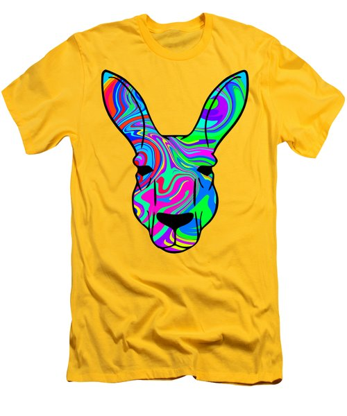 Colorful Kangaroo Men's T-Shirt (Athletic Fit)