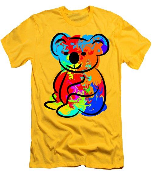 Colorful Koala Men's T-Shirt (Slim Fit) by Chris Butler