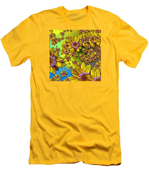 Crazy Daisies Men's T-Shirt (Slim Fit) by Nick Kloepping
