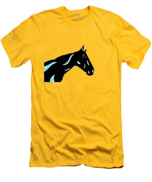 Crimson - Pop Art Horse - Black, Island Paradise Blue, Primrose Yellow Men's T-Shirt (Athletic Fit)