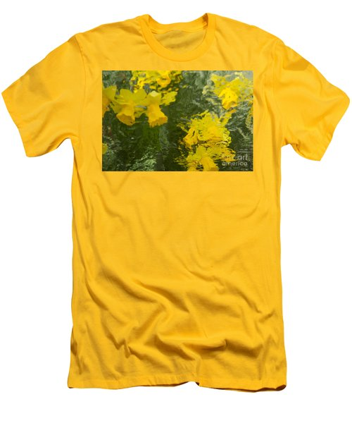 Men's T-Shirt (Slim Fit) featuring the photograph Daffodil Impressions by Jeanette French