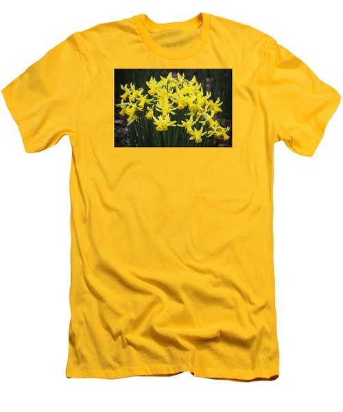 Daffodil Yellow Men's T-Shirt (Slim Fit) by Shirley Mitchell