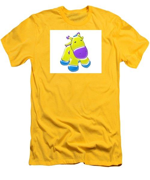 Darling Calf Cartoon Men's T-Shirt (Athletic Fit)