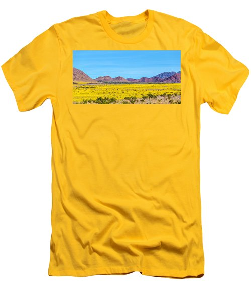 Death Valley Super Bloom 2016 Men's T-Shirt (Slim Fit) by Peter Tellone