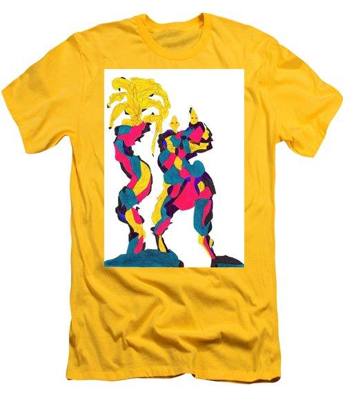 Definism Island Men's T-Shirt (Slim Fit) by Darrell Black