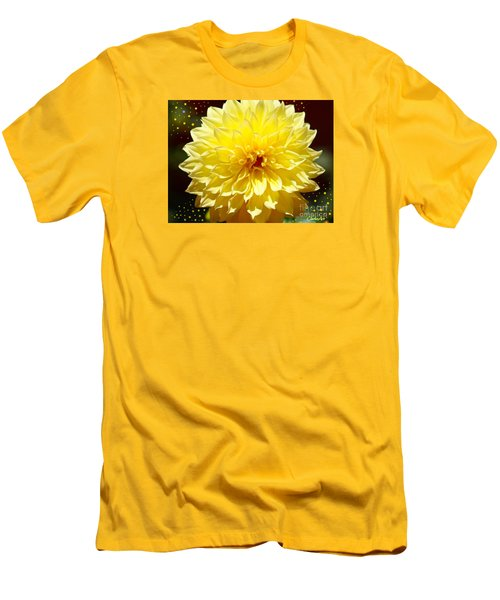 Dinner Plate Dahlia In Starry Sky Men's T-Shirt (Athletic Fit)
