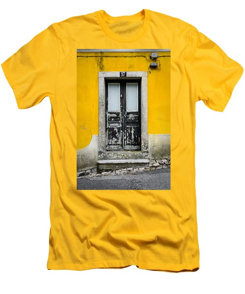 Door No 37 Men's T-Shirt (Slim Fit) by Marco Oliveira