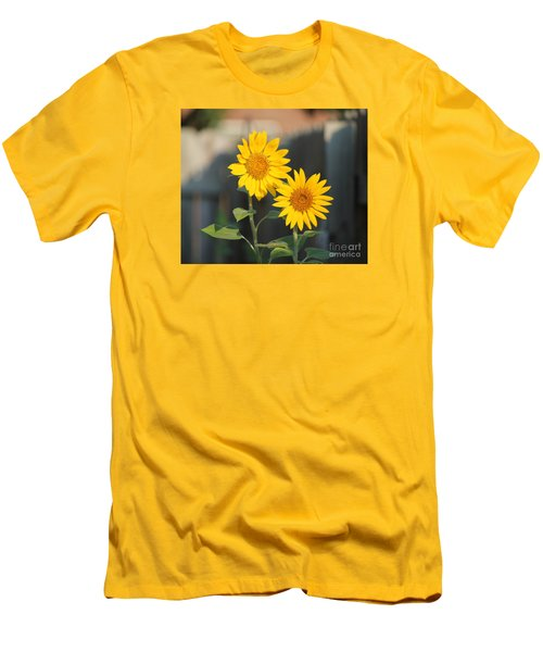 Double Sunflowers 2  Men's T-Shirt (Athletic Fit)