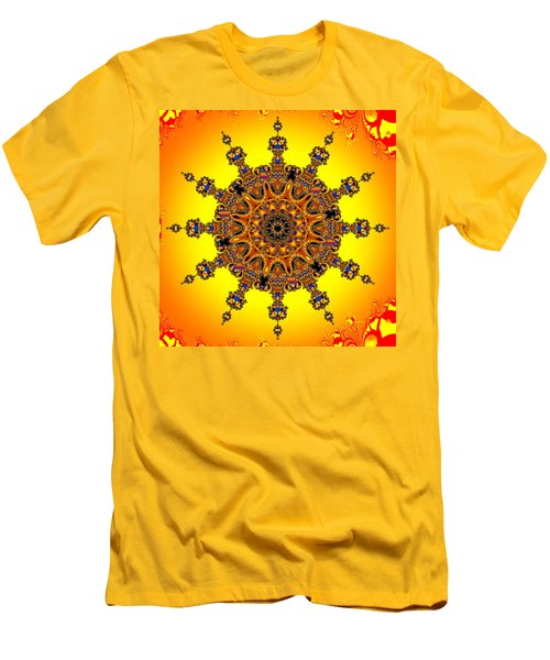 Men's T-Shirt (Slim Fit) featuring the digital art Energy Star by Robert Orinski