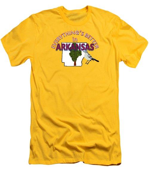 Everything's Better In Arkansas Men's T-Shirt (Slim Fit) by Pharris Art