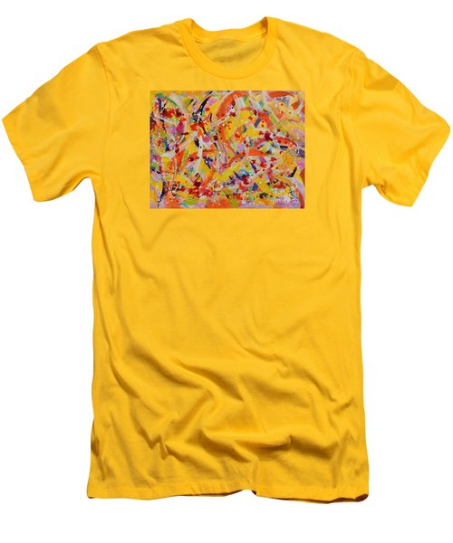 Everywhere There Are Fish Men's T-Shirt (Slim Fit) by Lyn Olsen