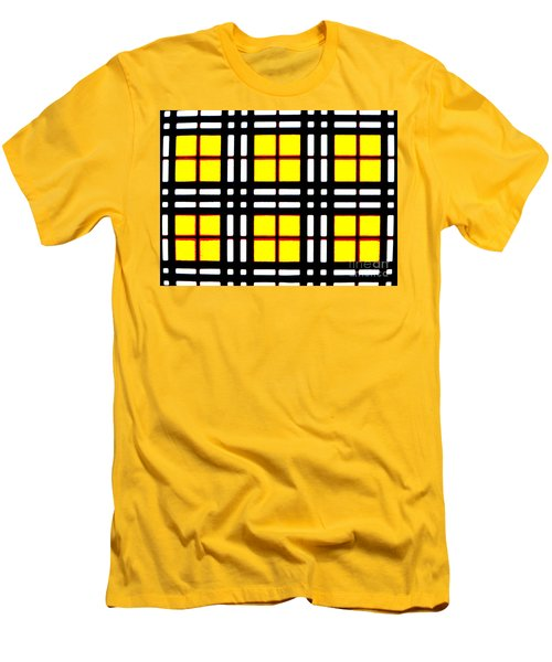 Expanding Plaid Men's T-Shirt (Athletic Fit)