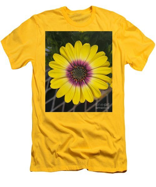 Fascinating Yellow Flower Men's T-Shirt (Slim Fit) by Jasna Gopic