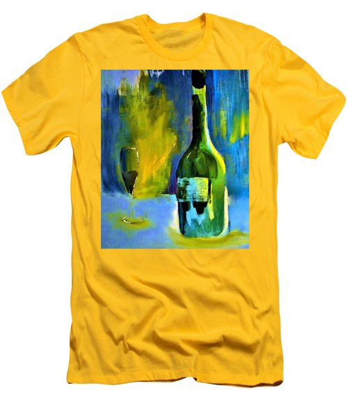 Men's T-Shirt (Slim Fit) featuring the painting Fine Wine Glow by Lisa Kaiser