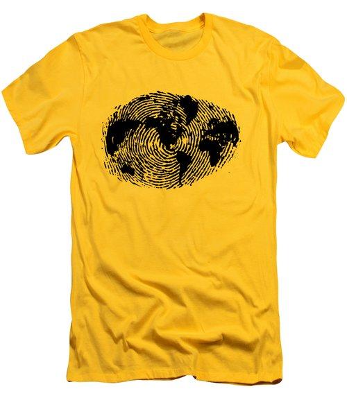 fingerprint 20X30 Men's T-Shirt (Athletic Fit)