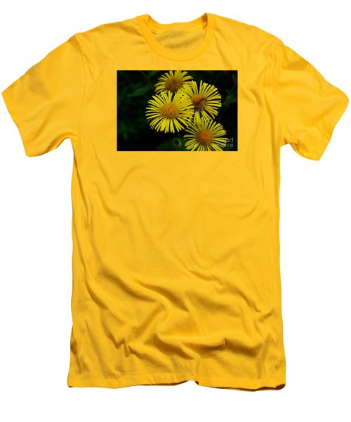 Fireworks In Yellow Men's T-Shirt (Slim Fit) by John S
