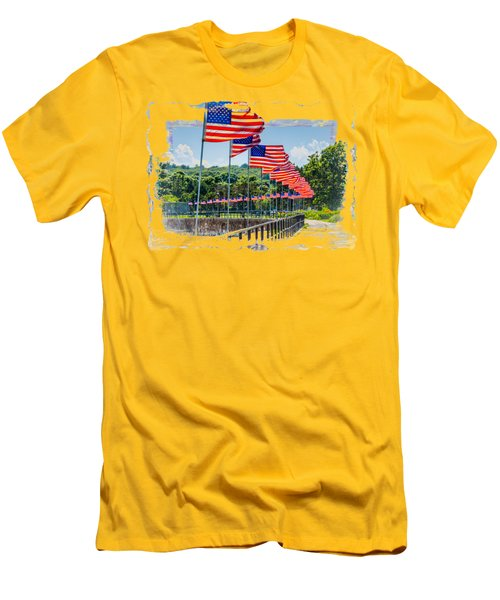 Flag Walk Men's T-Shirt (Athletic Fit)