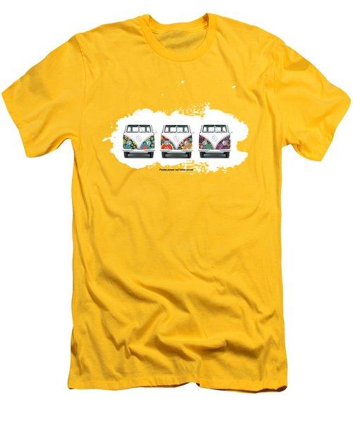 Flower Power Vw Men's T-Shirt (Slim Fit) by Mark Rogan