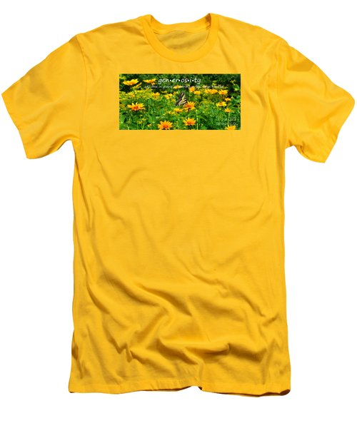 Men's T-Shirt (Slim Fit) featuring the photograph Gen Er Os I Ty  by Diane E Berry